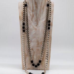Collana Chanel nera