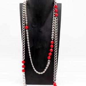 Collana Chanel rossa