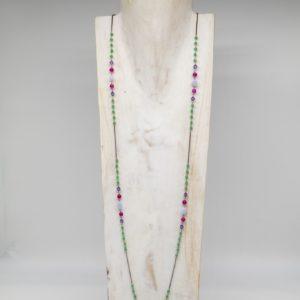 Collana lunga green jade
